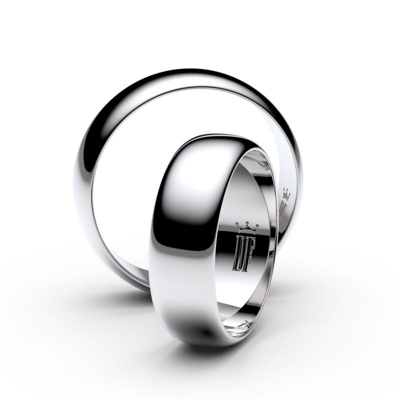 Snubní prsteny ze stříbra, 6 mm, půlkulatý, pár - 3A60