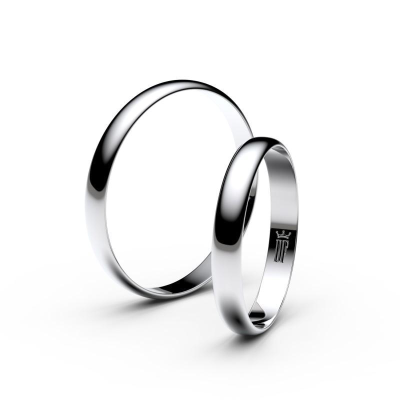 Snubní prsteny ze stříbra, půlkulatý, pár - 4E30