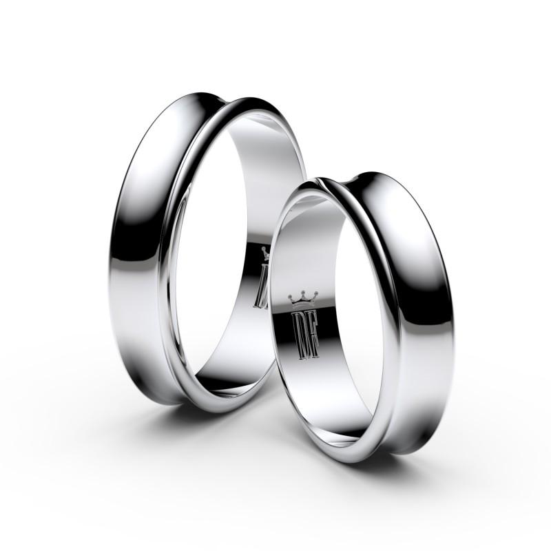 Snubní prsteny ze stříbra, 5 mm, konkávní, pár - 5A50