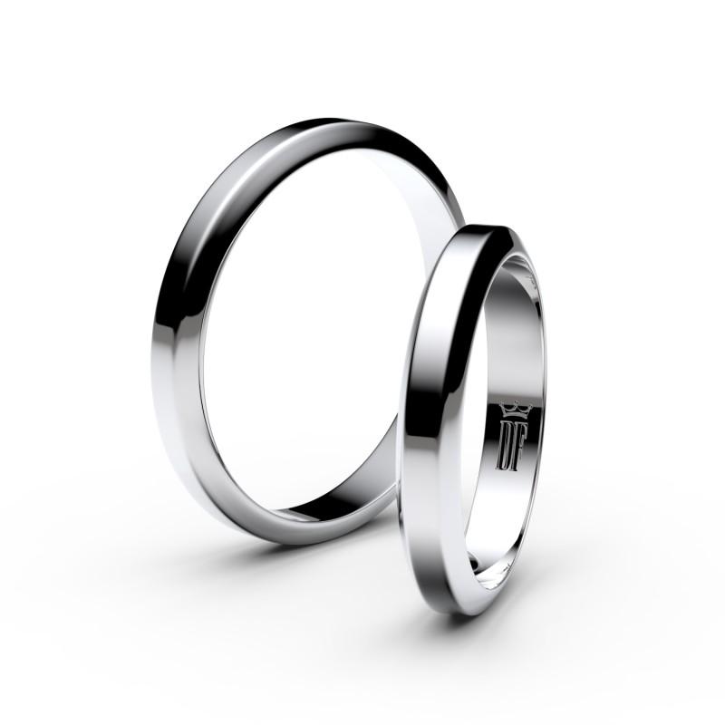 Snubní prsteny ze stříbra, 3.15 mm, lichoběžný, pár - 6B32