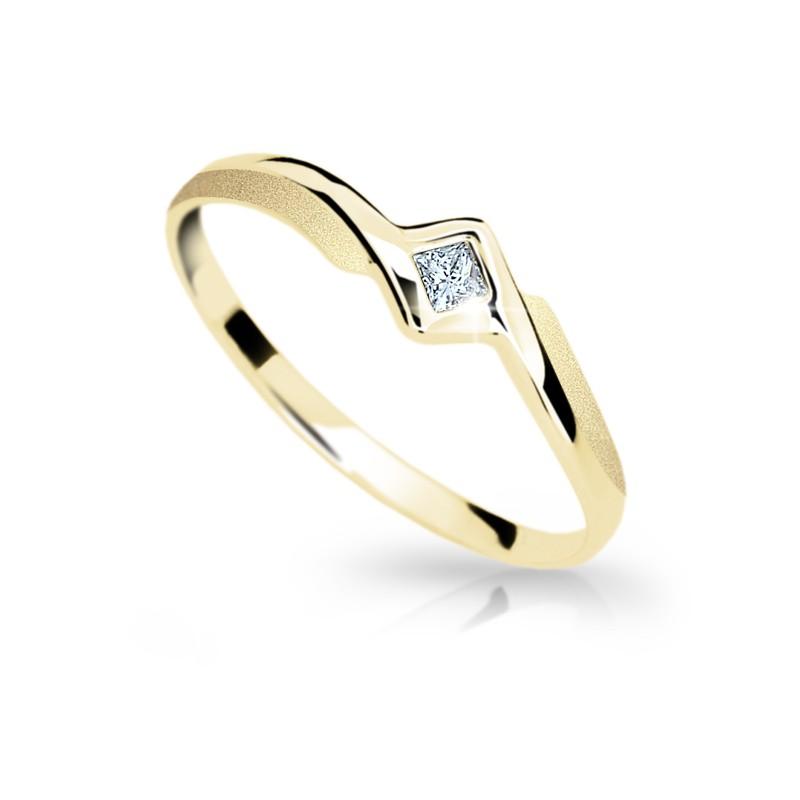 Danfil Zlatý prsten DF 1113 ze žlutého zlata, s briliantem