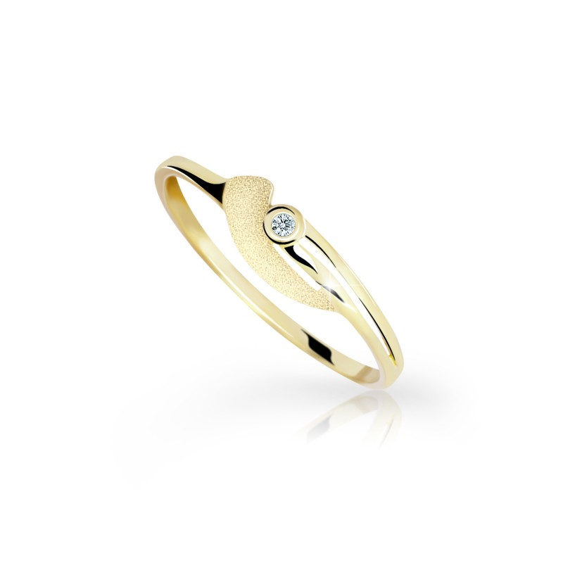 Danfil Zlatý prsten DF 1662z ze žlutého zlata, s briliantem