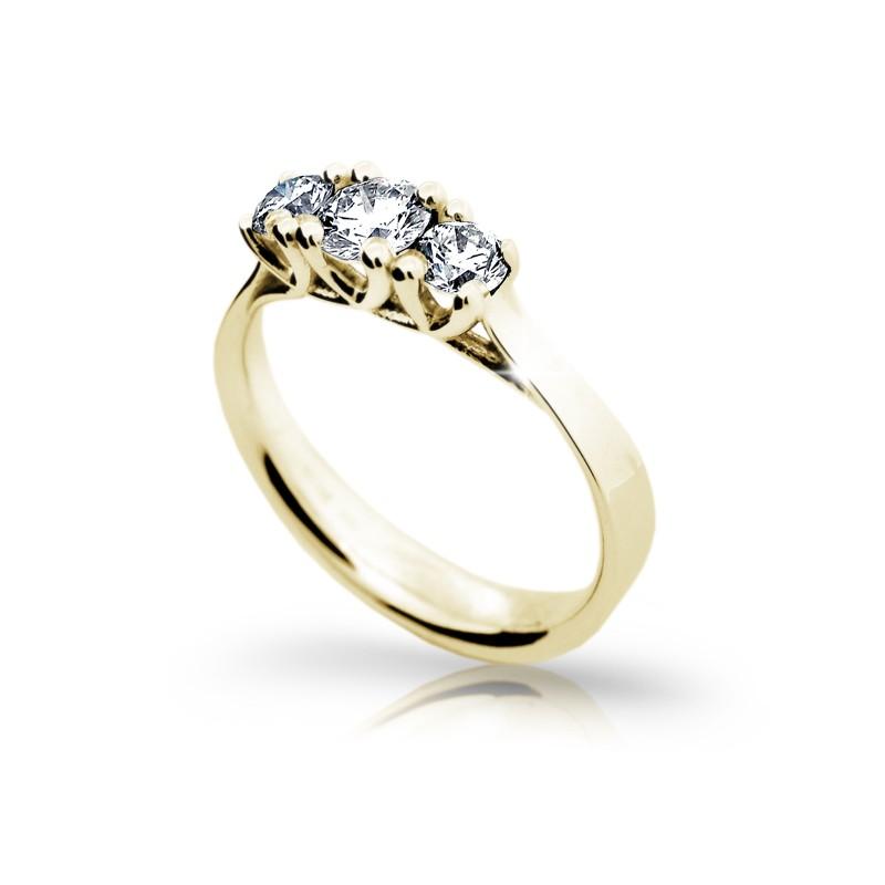 Danfil Zlatý zásnubní prsten DF 1924, žluté zlato, s diamantem