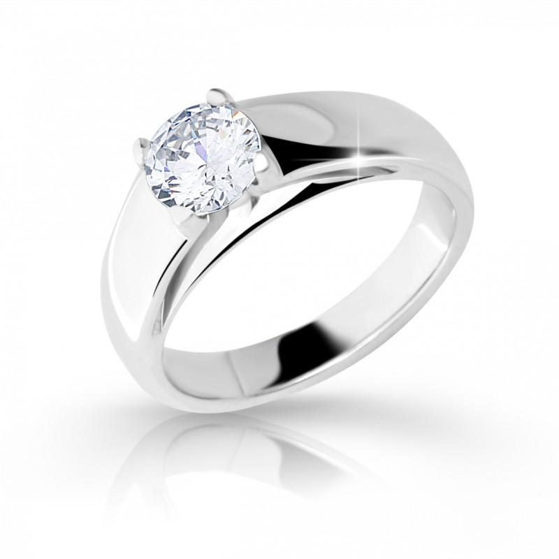 Danfil Zlatý zásnubní prsten DF 2130, bílé zlato, s diamantem