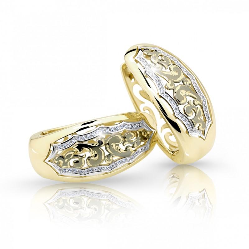 Danfil Zlaté dámské náušnice DF 2172, briliantové, žluté zlato