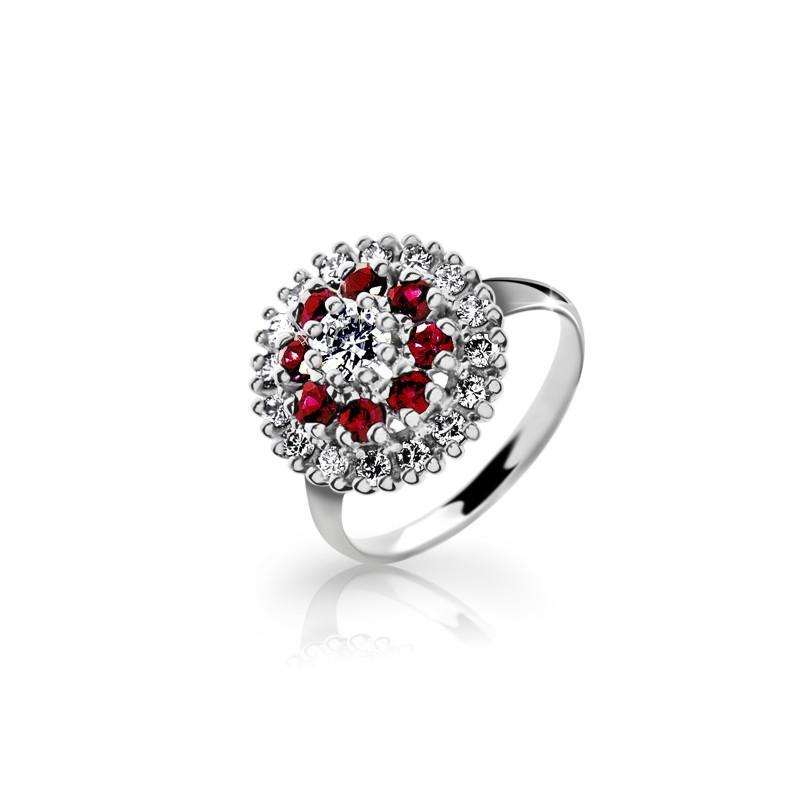 Danfil Zlatý dámský prsten DF 2888 z bílého zlata, s briliantem